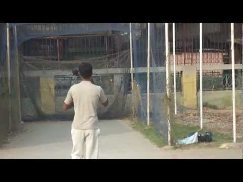 Shahid Batting in the nets