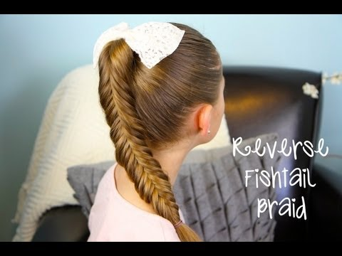 "Reverse {Inverse} Fishtail Braid | Thanks for 1,000,000 Subscribers!, Don't forget to enter BrooklynAndBailey's first giveaway... OPI Minnie ""Minis"" nail polish! http://www.youtube.com/BrooklynAndBailey * ~ * ~ * ~ * ~ * ~ * I ..."
