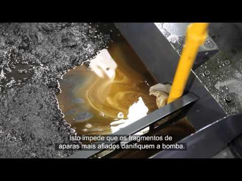 (PT)Líquido de refrigeração da máquina-ferramenta: Limpar o depósito