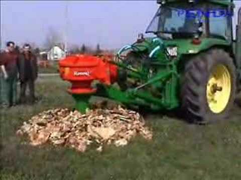 John Deere 8100 and Rotor S stump grinder