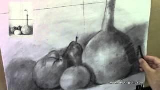 Dibujar y sombrear con carboncillo