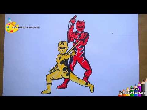 Vẽ Siêu nhân mãnh thú/How to Draw Power Ranger