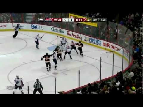 Milan Michalek Backhanded Goal vs Washington Capitals 1/29/13