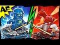 NRG JAY vs FANGDAM Lego Ninjago Spinjitzu Battle & Stop Motion Set Review 9570 9571