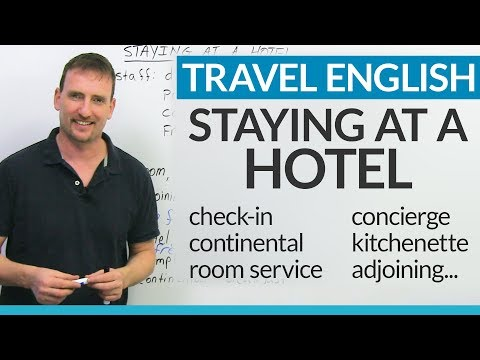 English for staying at a HOTEL