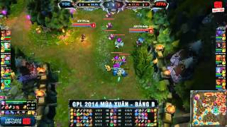 [GPL 2014 Mùa Xuân] [Tuần 1][Bảng B] yoe FlashWolves vs Azubu Taipei Assassins [12.02.2014]