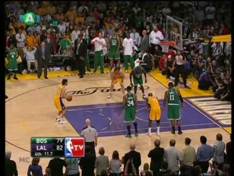NBA the Finals 2009-10 game 7 (end 4-3) Los Angeles Lakers - Boston Celtics 83-79 the grand finale