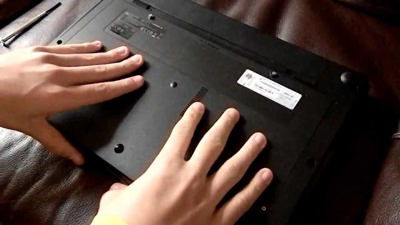 tuto changement de disque dur et barette de ram pour pc portable hp youtube. Black Bedroom Furniture Sets. Home Design Ideas
