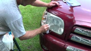 Easily restore headlight with baking soda and vinegar a how-to video