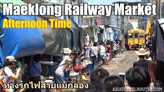 Maeklong Railway Market Afternoon Time