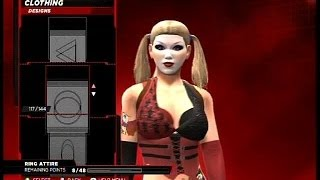 WWE 2K14 How To Make Batman Arkham City Harley Quinn