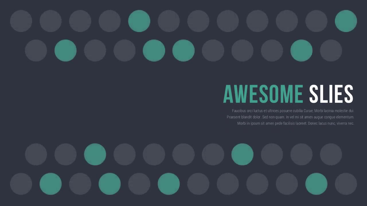 awesome slides   powerpoint presentation template  dark