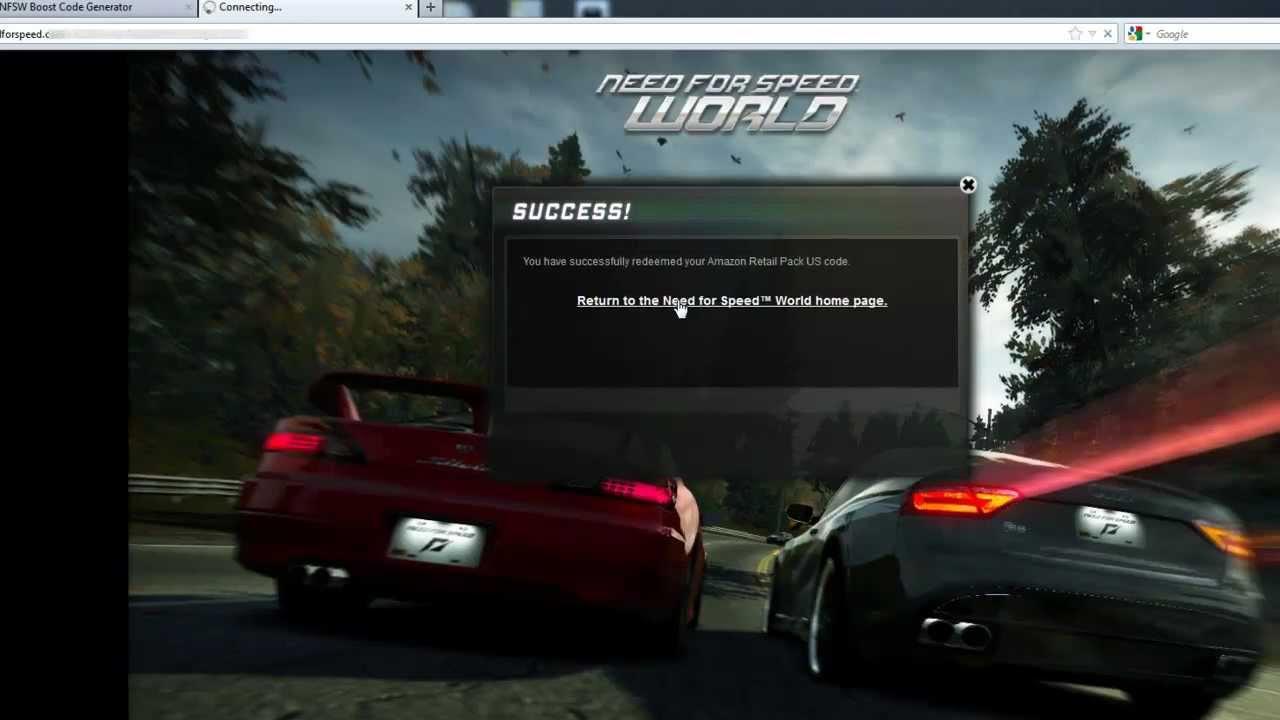Verification Code Need For Speed World Boost Adder 2012 2013 Mediafire ...