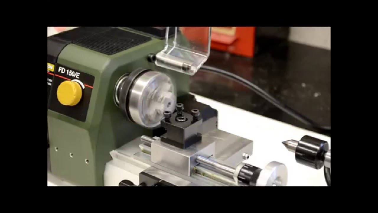 tornio proxxon fd 150 e 24150 youtube