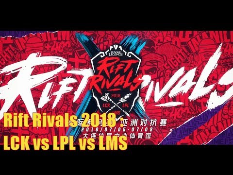 ALL team Rift rivals 2018 : LCK vs LPL vs LMS