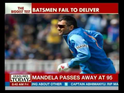 Sourav Ganguly talks about India's disastrous loss