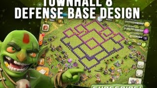 Clash Of Clans Whirl Pool Base Design Townhall 8