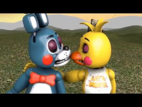 SFM FNAF Five Nights At Freddy's Toy Bonnie and Toy Chica Kiss