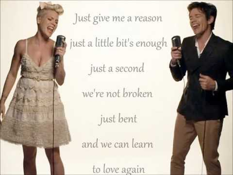 Pink feat. Nate Ruess - Just give me a reason - Lyrics ♥