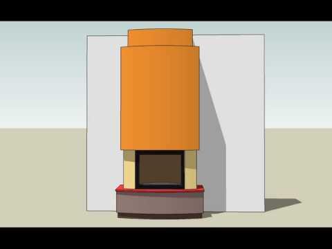 projekty kominków
