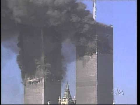 9/11 - NBC - very HQ details of the WTC South Tower collapse and pulverization.