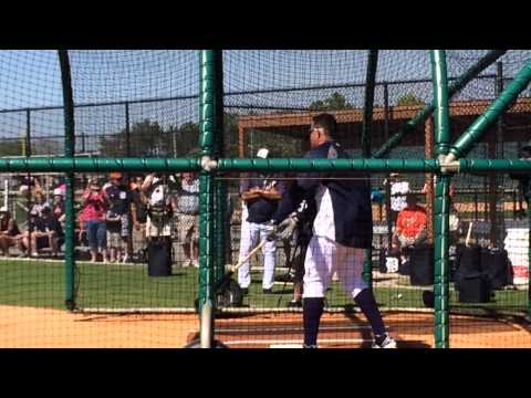Tigers' Miguel Cabrera in batting practice