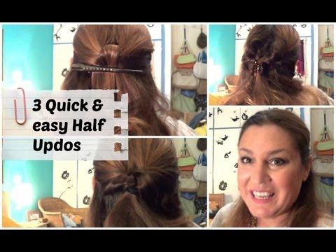 3 Εύκολα & γρήγορα DIY χτενίσματα για σχολείο/γραφείο - 3 Quick & easy DIY Half Updos