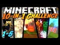 Minecraft: 10-IN-1 CHALLENGE! - 1-5 - w/ CavemanFilms (Competition Map)