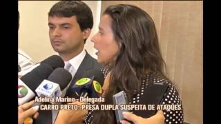 Presa dupla suspeita de estupro usando carro preto em Valadares
