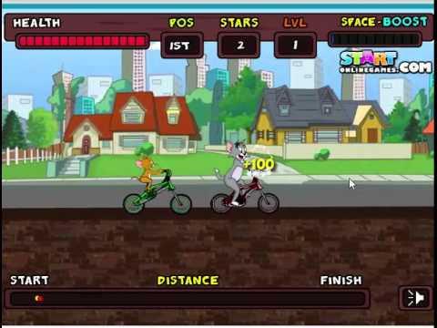Game Tom và Jerry đua xe đạp