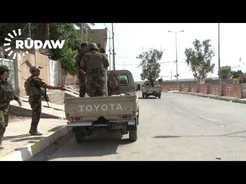 Kurdish Peshmerga fighting against ISIS in Jalula