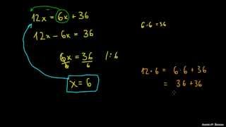 Primer 2 – spremenljivki na obeh straneh enačbe