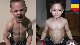 World's Strongest Kids: Giuliano Stroe, 9, And Claudiu
