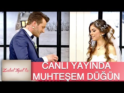 Zuhal Topal'la 91. Bölüm (HD) |  Erkan ve Zahra'ya Canlı Yayında Muhteşem Düğün
