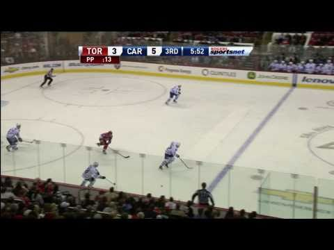 Brown Goal - Canes 5 vs Leafs 4 - Jan 24th 2011 (HD)