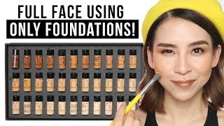 Full Face Using Only Foundation! TINA TRIES IT