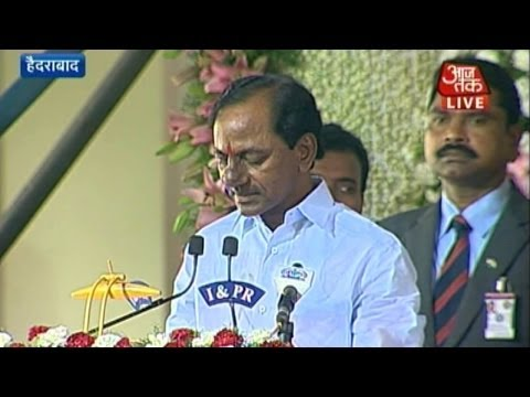K Chandrashekhar Rao takes oath as first CM of Telangana