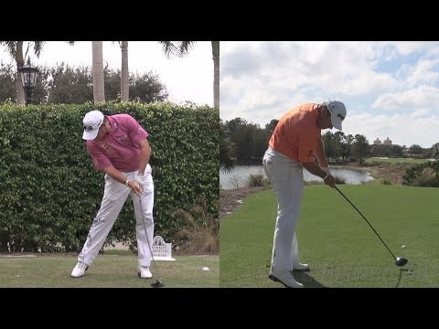 LEE WESTWOOD - SYNCED DRIVER GOLF SWING FACE-ON DTL REG & SLOW MOTION 1080p HD