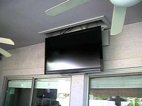 Ceiling Mounted Tv 4 Of 4 Youtube