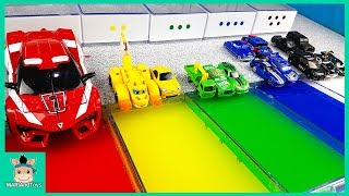 Learn Colors With Disney Cars Lightning Mcqueen and Tayo Friends, Nursery Rhymes Song | MariAndToys