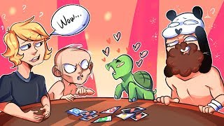 A Panda, Owen Wilson, Gollum and a Turtle Play Cards - UNO