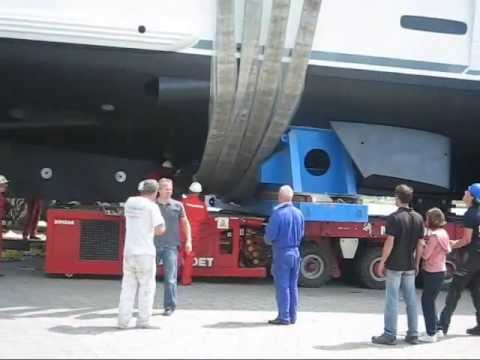 Launching a 204 tons Yachtl ft Dutch Yacht Builders & Mammoet