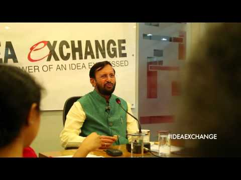 I don't like the word regulation: Prakash Javadekar at Idea Exchange