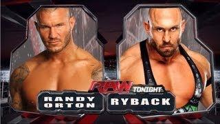 WWE RAW Randy Orton Vs Ryback Full Match HD!