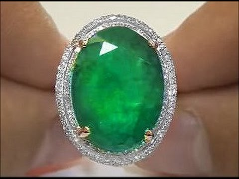 Colossal 18.15 Carat Colombian Emerald &amp; Diamond Ring Estate Sale - $25,000 eBay Auction