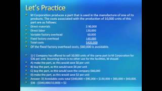 Intro To Managerial Accounting: Relevant Costs And