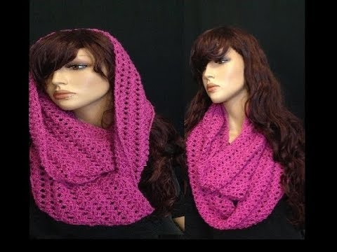 Youtube Crocheting A Scarf : How to Crochet a Round Infinity Scarf Pattern #8 ?by ThePatterfamily ...