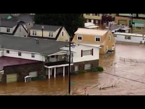 Record flooding in parts of West Virginia