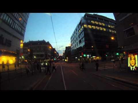 Oslo, Norway - Tram 12 Time Lapse - Jernbanetorget to Schous Plass HD (2013)