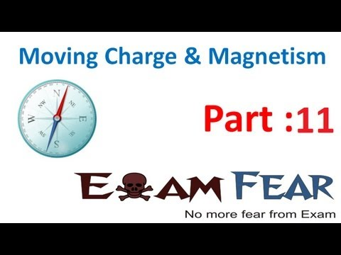 Physics Moving Charge & Magnetism part 11 (Motion in combined Electric & Magnetic field) CBSE 12
